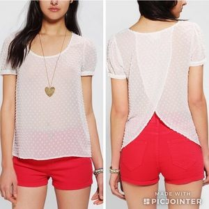 Urban Outfitters Pins &Needles Clip Dot Tulip Top